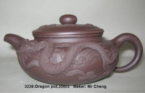 Yixing clay dragon tea pot