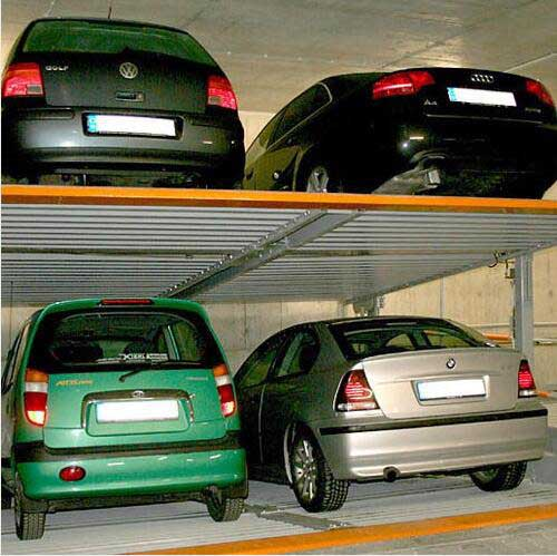 Hydraulic Cylinder 4 Cars Pit Parking System