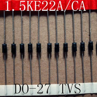 Free Samples 1500W 22V TVS Chip Diode 1.5KE22A/CA DO-27 Case