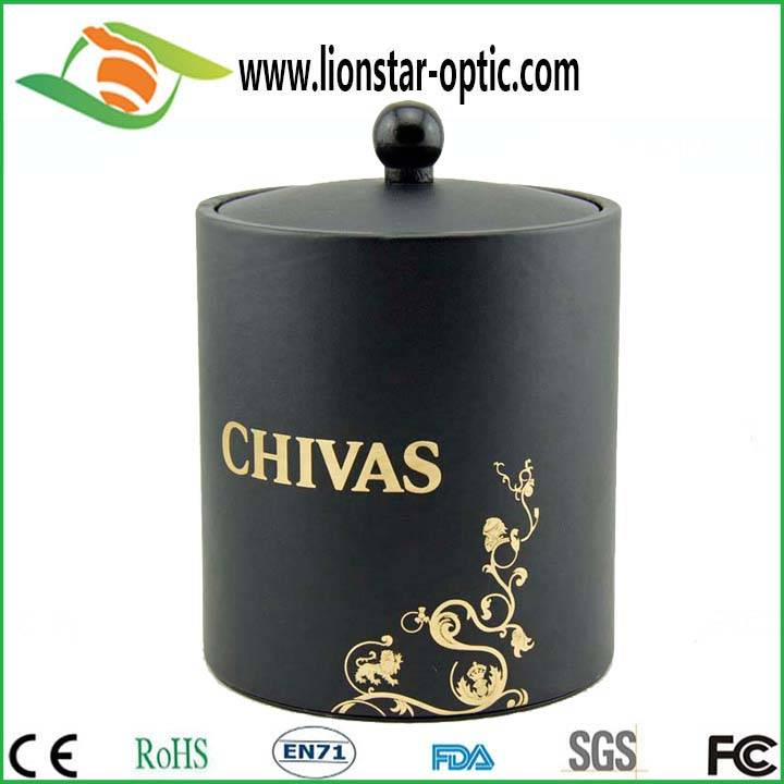 Any color plastic ice bucket , leather ice bucket , high grade leather ice bucket custom logo ,handm