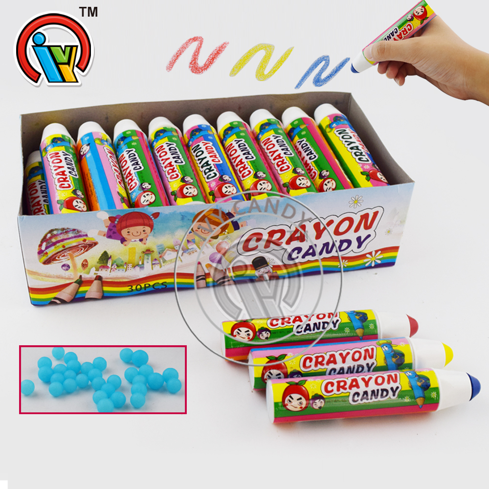 Crayon Toys with Fruity Ball Pressed Candy