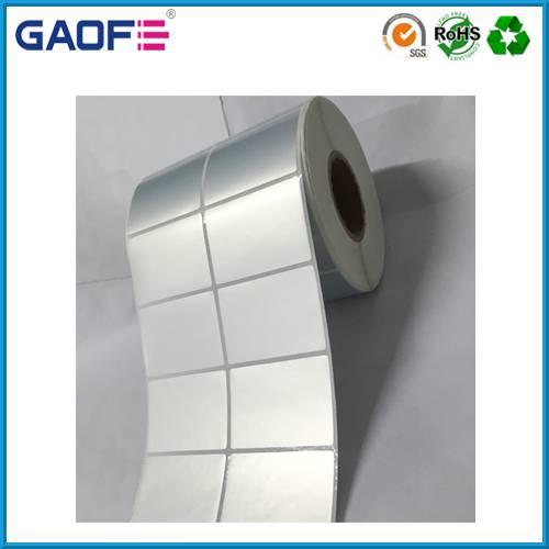 matte siliver PET film sticker label, custom sticker roll, adhesive barcode label printing