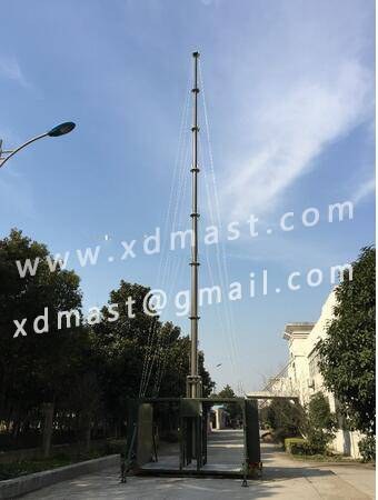 telescopic antenna Communication tower mast with telecom shelter