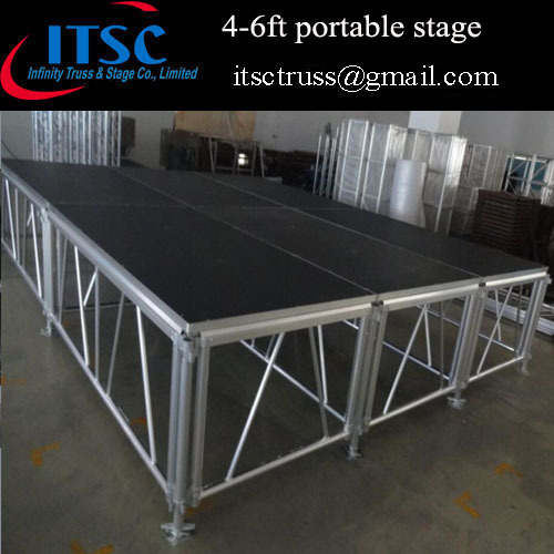 4-6ft high adjustable portable stage