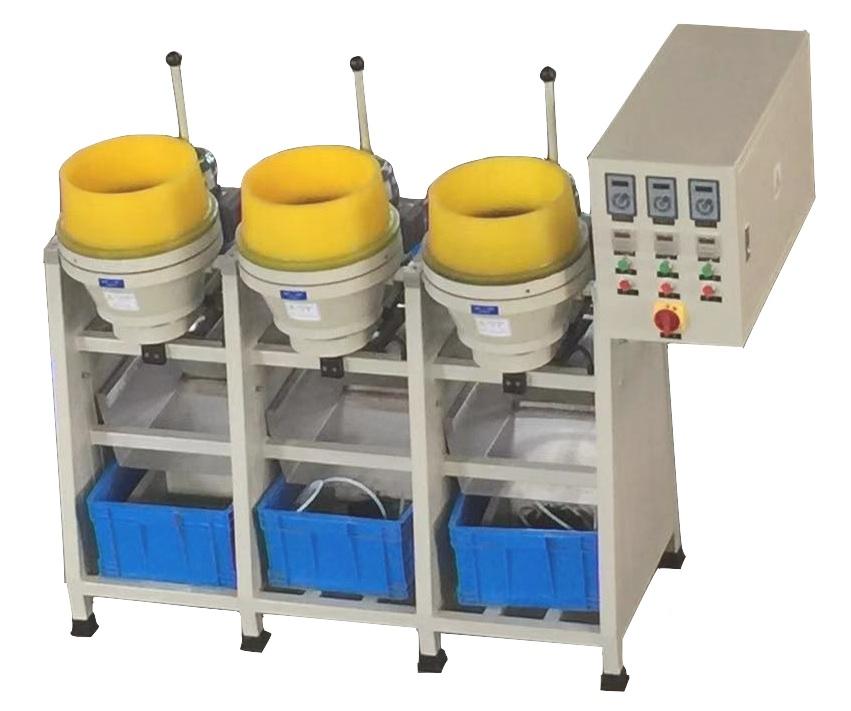 Dry centrifugal disc finishing machine