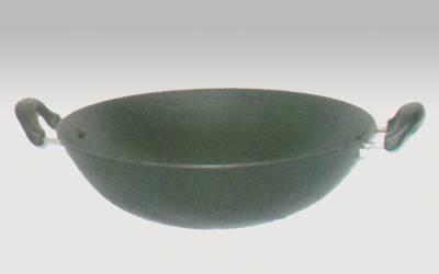 Cast iron enamel wok
