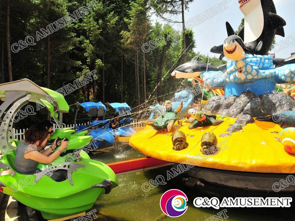 2017 New Design Shooting Water Rides---Fight Shark Island