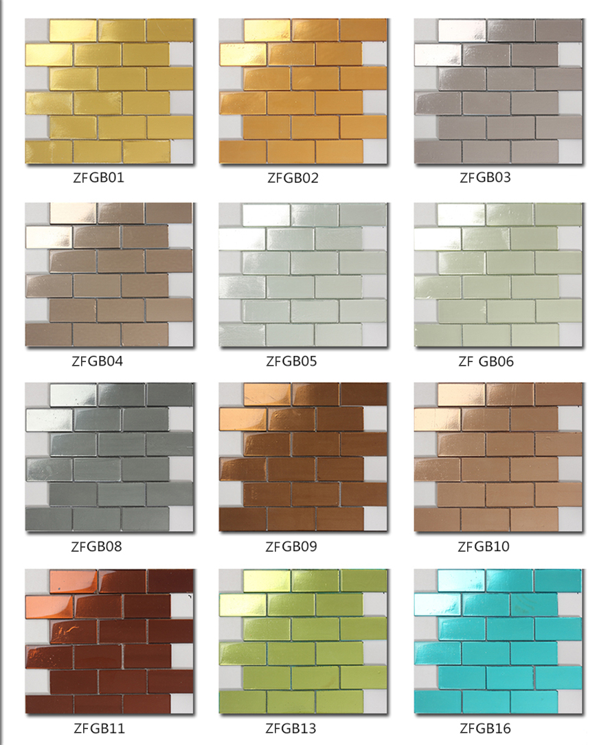 48x98mm swimming pool colorful gold glass mosaic tiles suppliers