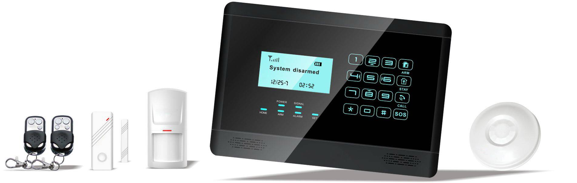 PSTN Auto dial alarm system with detector