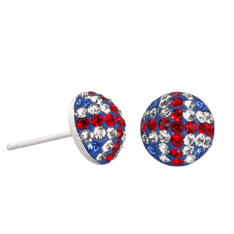 UK National Flag Crystal Earring Stud, Travel Souvenir Jewelry