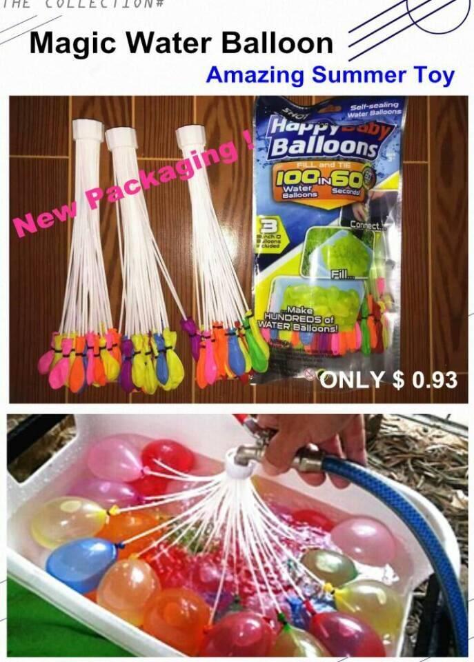 100 magic water balloon bunch custom hot selling