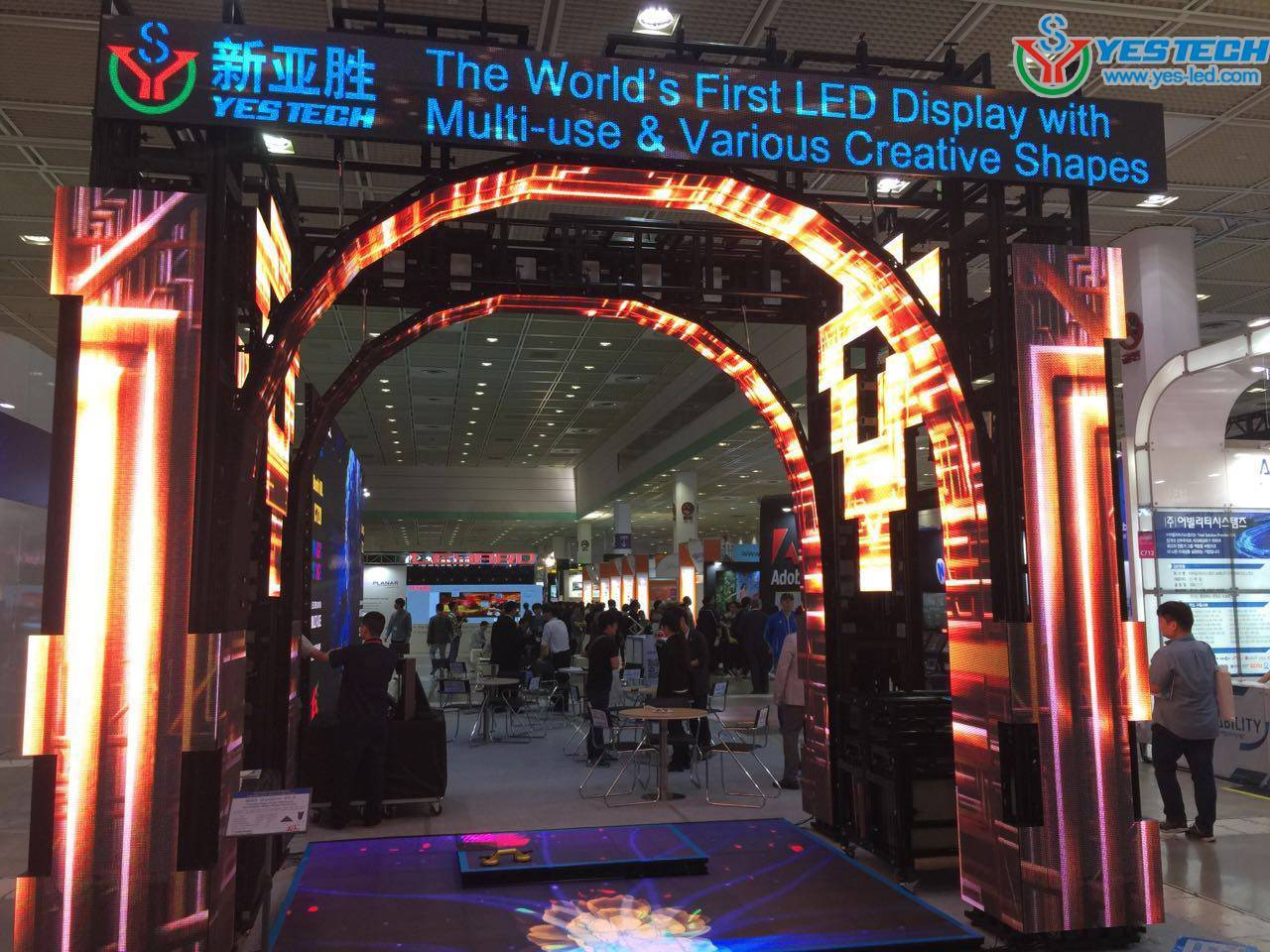 With Creative Design Flexible Led Screen Outdoor Advertising Led Display Screen