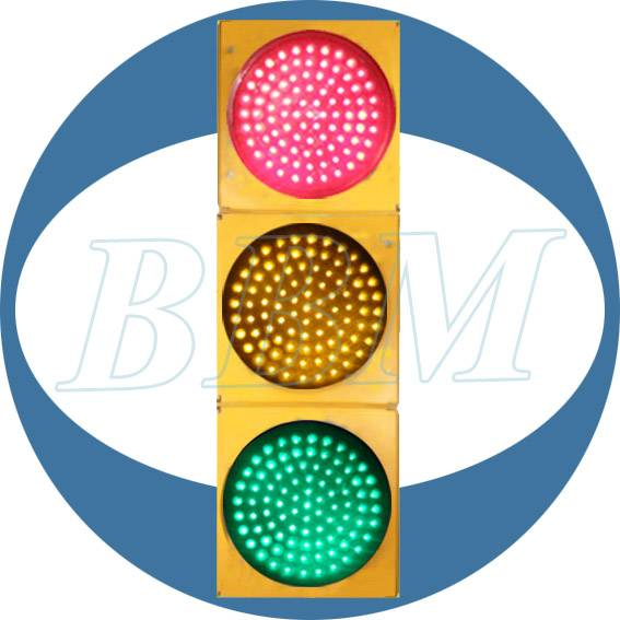 yellow PC clear lens 200mm full ball traffic light
