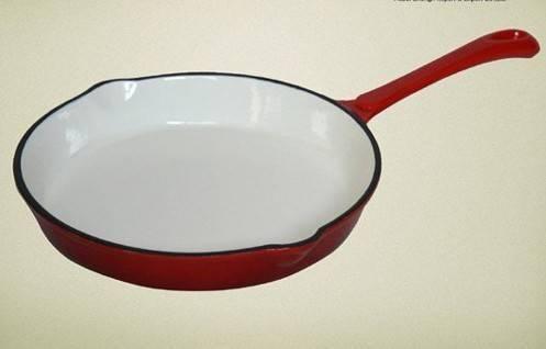 Cast iron enamel cookware-fry pan