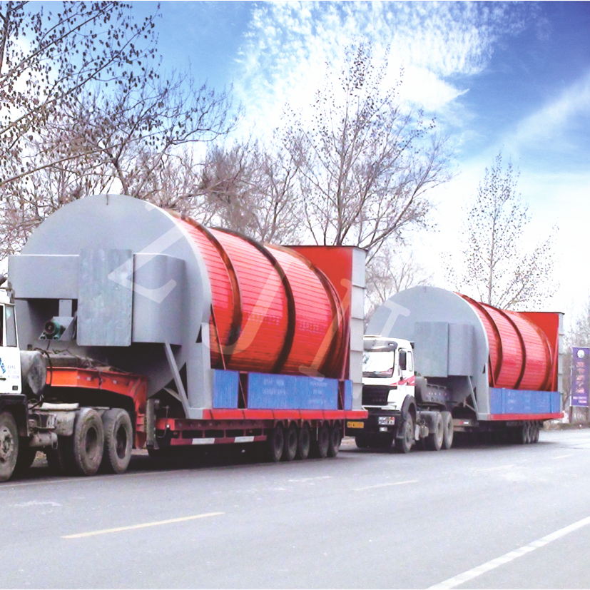 Rotary drum dryer 20 ton per hour capacity for textile and paper industry
