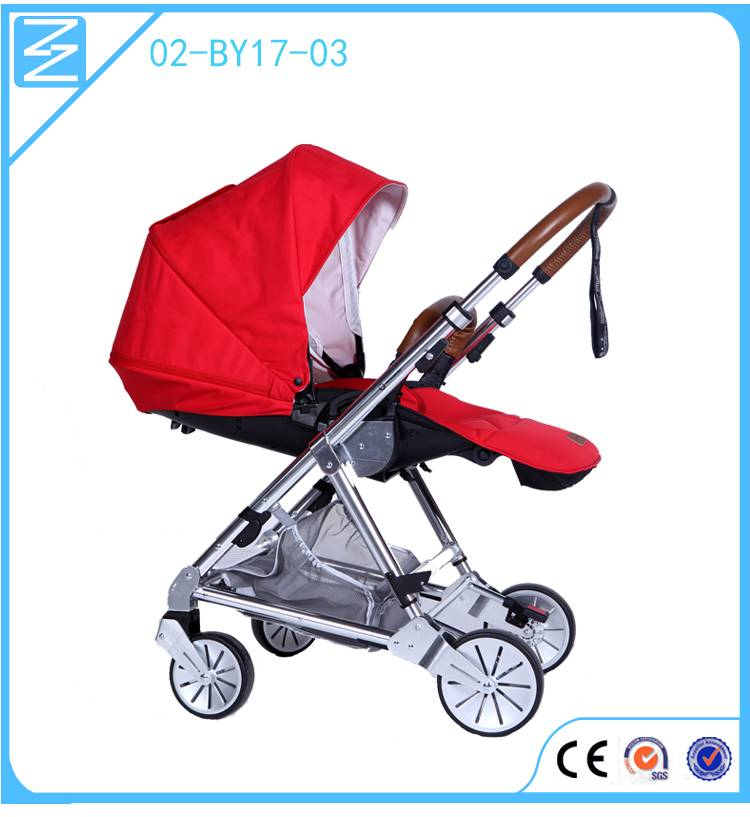 New Product A mechanical double brake system electric stroller