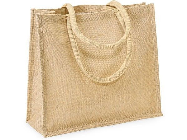 Cheap burlap city tote bag for women shopping with cotton handle stripe
