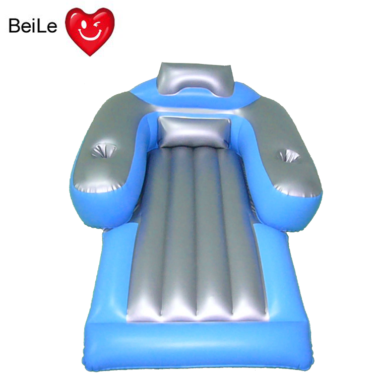 Customized float inflatable lounger chair for swimming pool