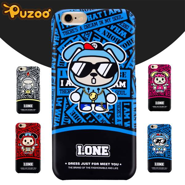 PUZOO IONE high quality PC mobile phone cover for iphone 6 s Plus with retail package