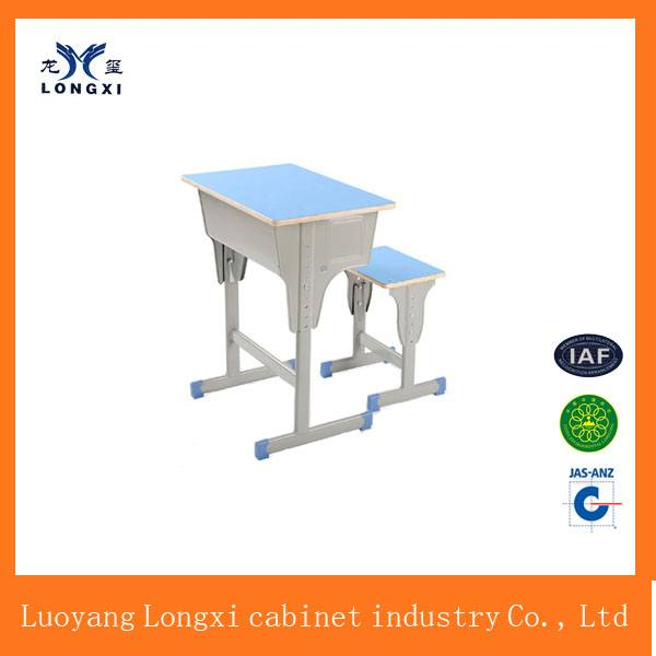 economic modern standard school desk and chair price for single and double set