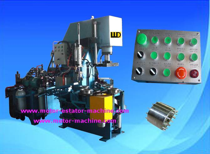 4 rotary stations 8 seconds automatic rotor casting machine with aluminum melt furnace