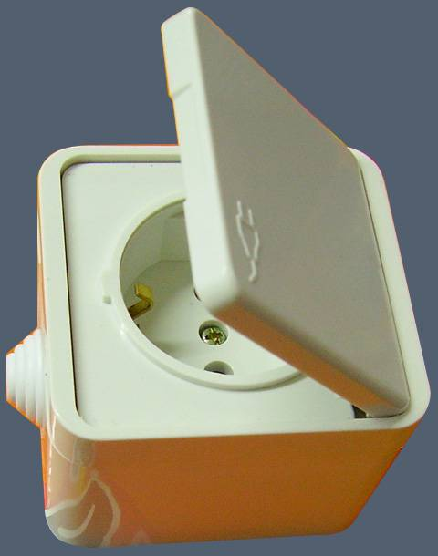 European style wall socket (SR-21116)