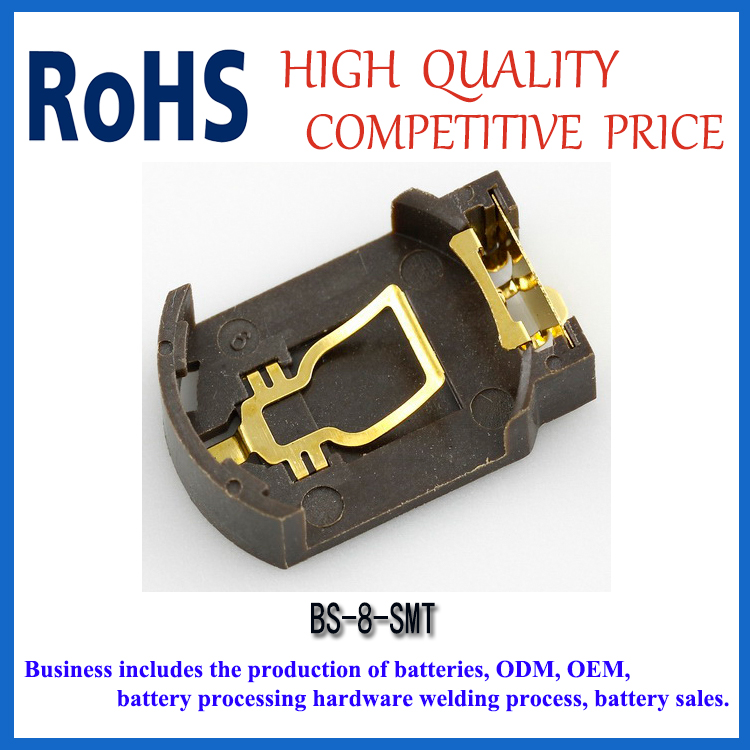 BS-8 SMT battery holder for CR2032 series button cell battery