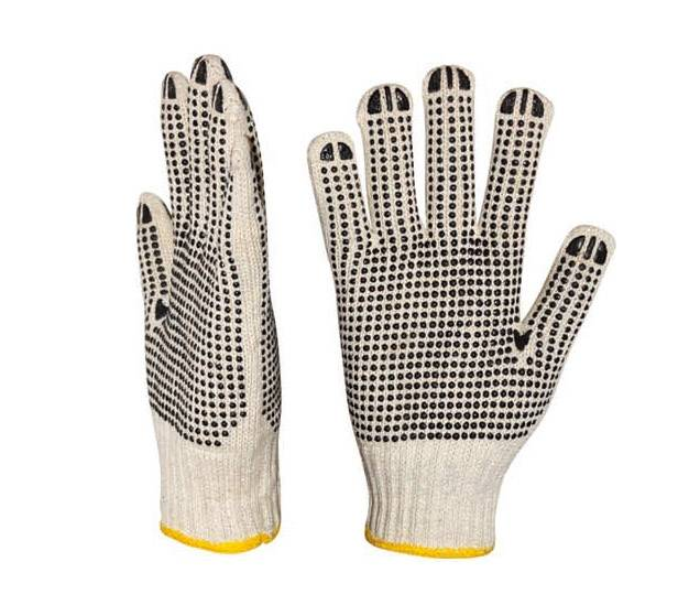 working dots coated gloves