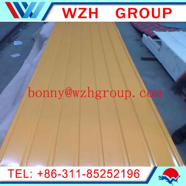 color steel roof sheet corrugated metal steel sheet / ppgi prepainted galvanized steel sheet