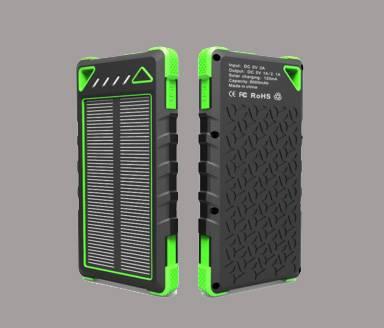 New Arrival SolarPower Bank Dual USB Powerbank 12000mAh External Battery Portable Charger Bateria Ex