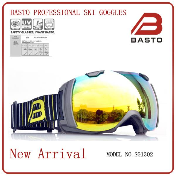 top designed  revo lens customized snow ski goggles SG1302