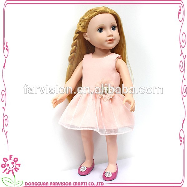 2017 Simple style 18 inch real baby vinyl girl doll clothes in bulk