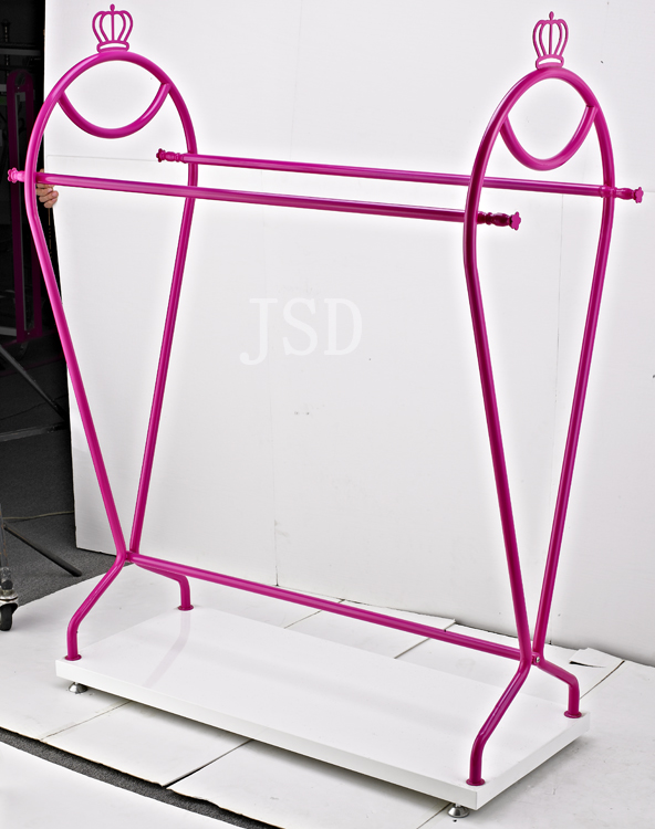 Children Cloth Store floor free standing metal display rack
