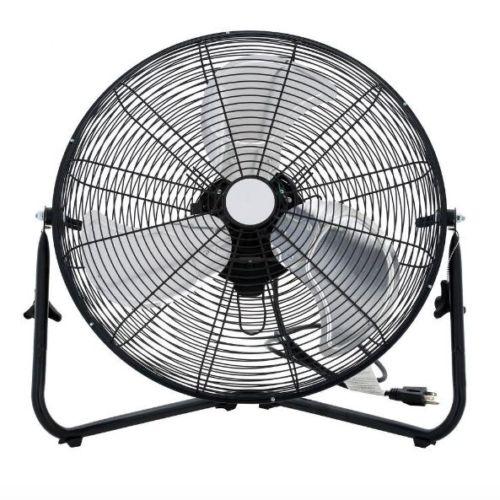 2018New Hot Selling Chrome Silver Cyclone High Velocity Floor Fan Steel 3 Speed Large Industrial Fan