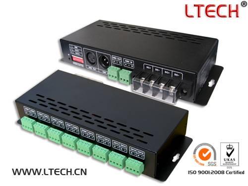 Hot sale 16CH LED DMX-PWM decoder 3A/CH 360W/864W/1728W(5V/12V/24V)