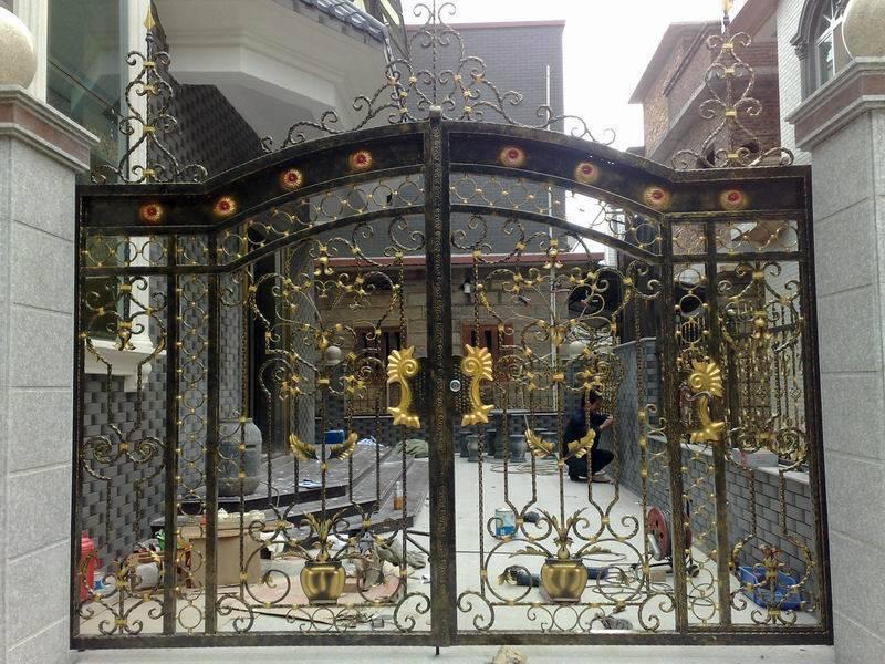 Entrance wrought iron gate