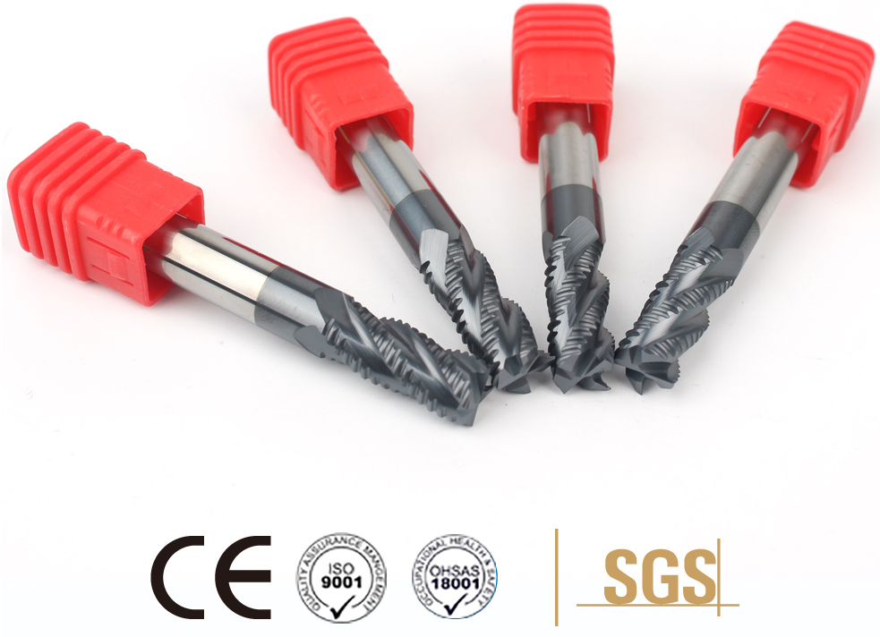 High Speed HRC45 Tungsten Carbide Roughing Square Milling Cutter