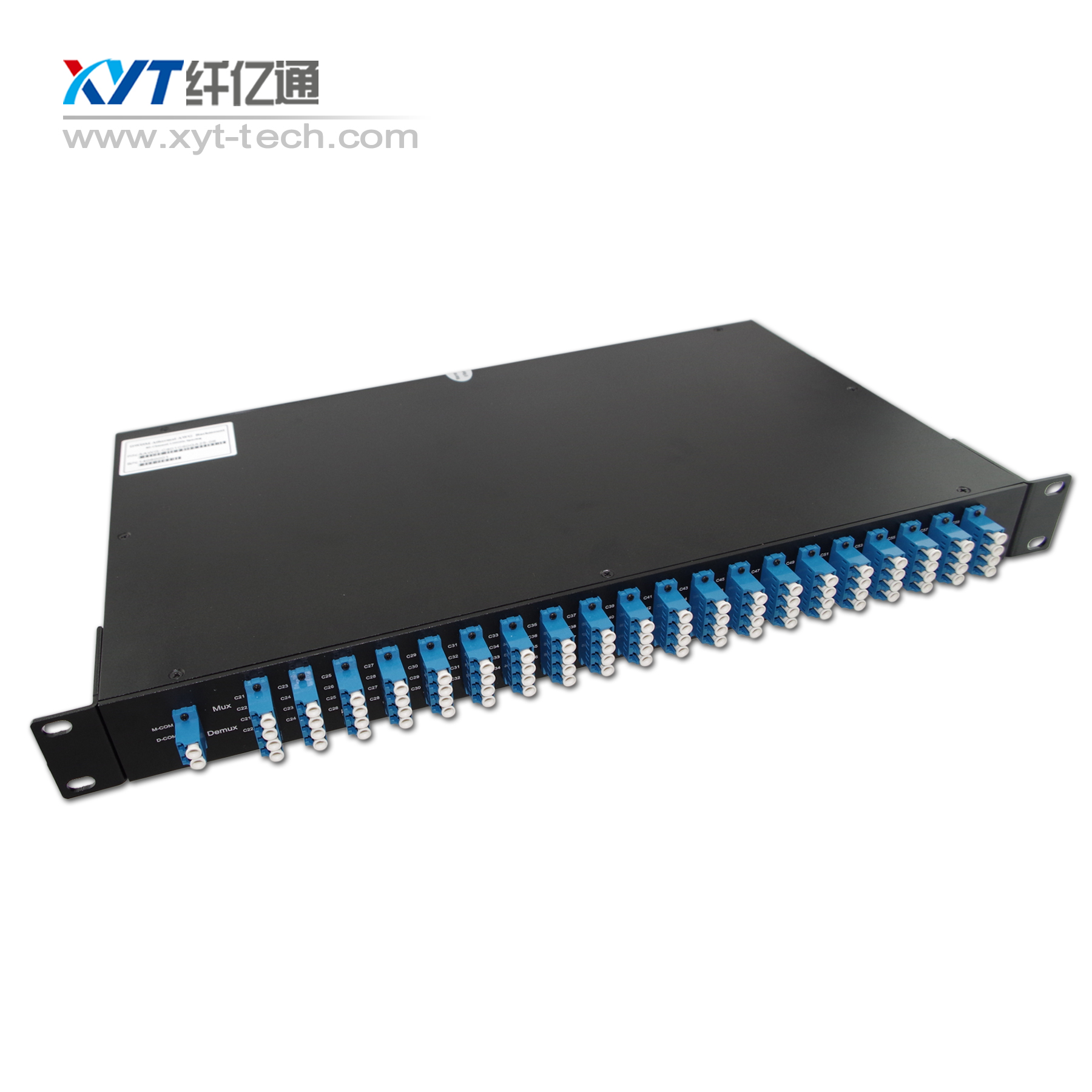 Passive device DWDM 1U Rackmount 40channel DWDM MUX DEMUX 100Ghz dual/single fiber