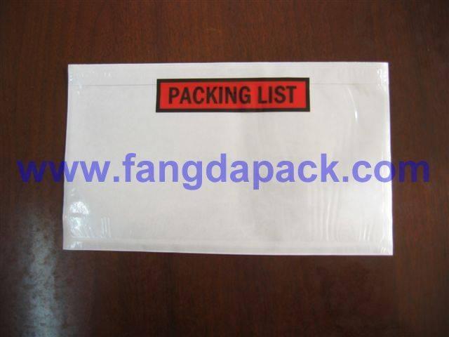for Europe market packing list envelope