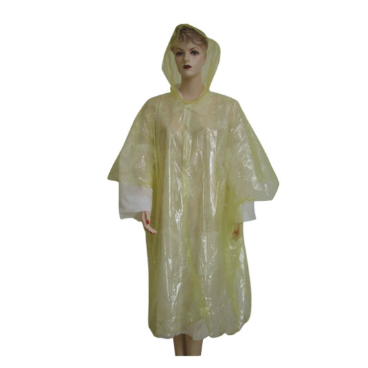 Plastic Material long rain coat for kids women men