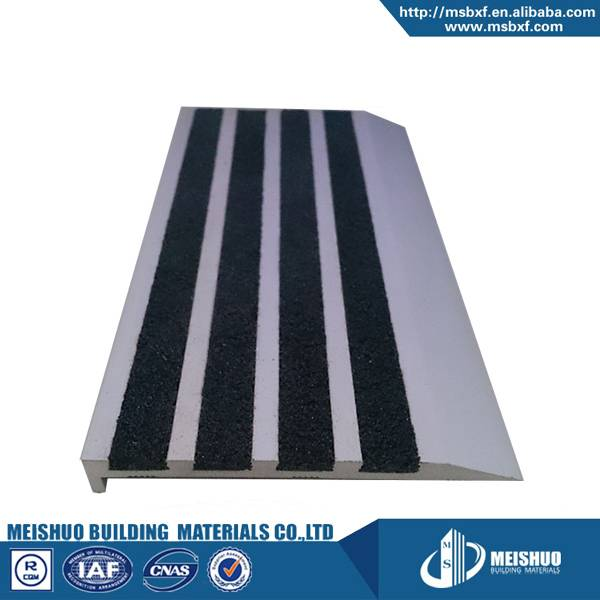 Carborundum insert Exterior High Load aluminum stair nosing strips