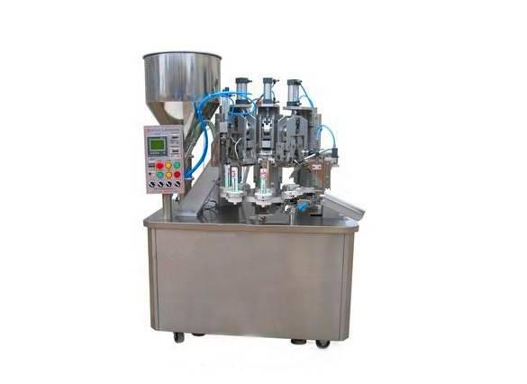 Automatic plastic tube filling machine