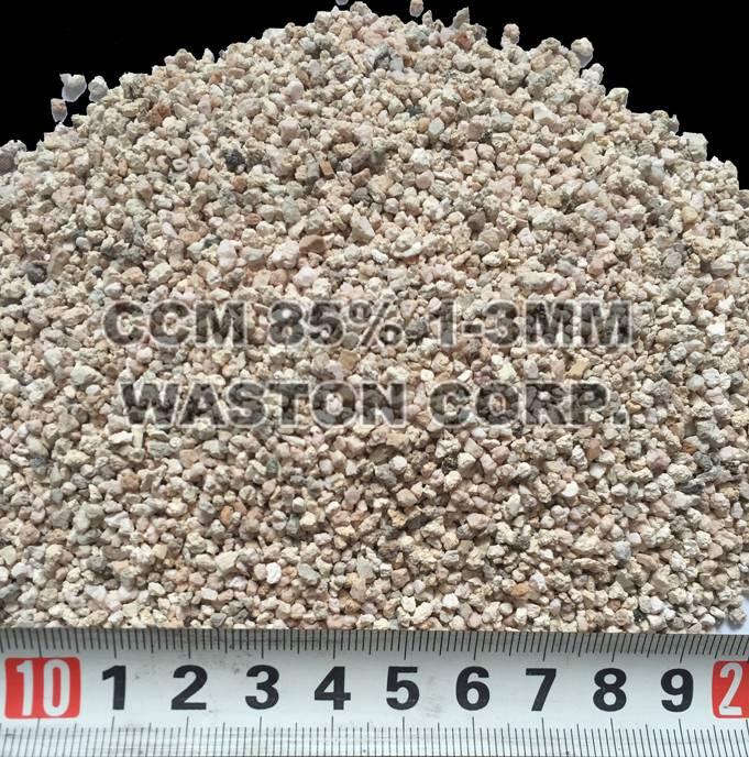 Caustic calcined magnesite 85% 1-3MM