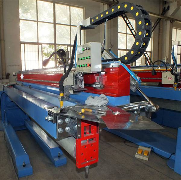 Straight welding machine for galvanised steel/stainless steel