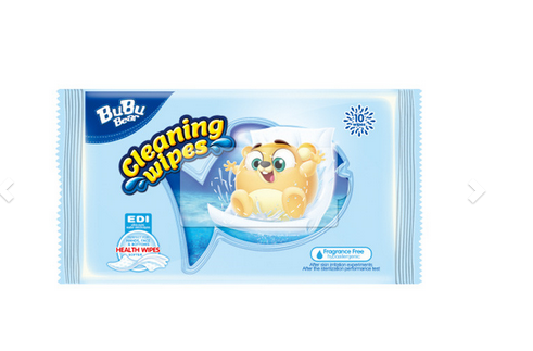 Cleaning Wipes Fragrance Free 10wipes BUBUBEAR
