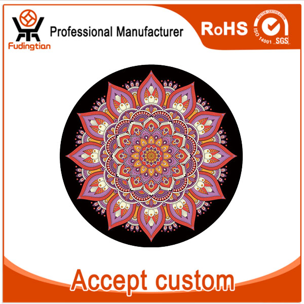 FDT 3.5mm Thick Round Anti-slip Rubber Eco-friendly Circle Yoga Mats