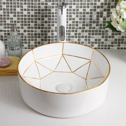 New design luxury white color ceramic hand sink