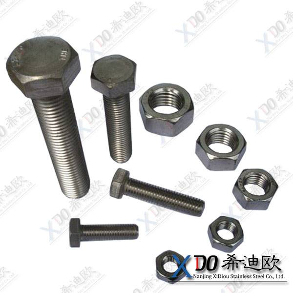 duplex 2205 China hardware din standard stainless steel hex bolt and nut
