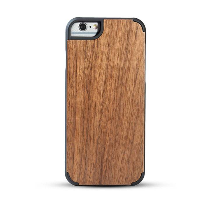 New design premium wood phone case solid phone protective cord back high quaility Iphone6/6P Walnut