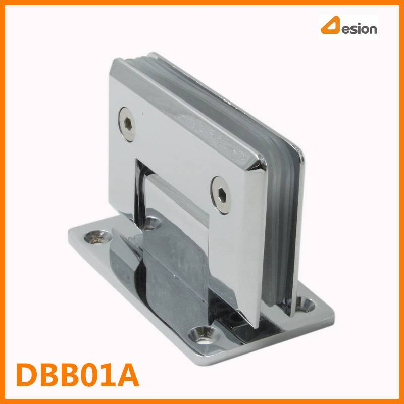 90 Degrees Zinc Alloy Shower Door Hinge with Bright Chrome